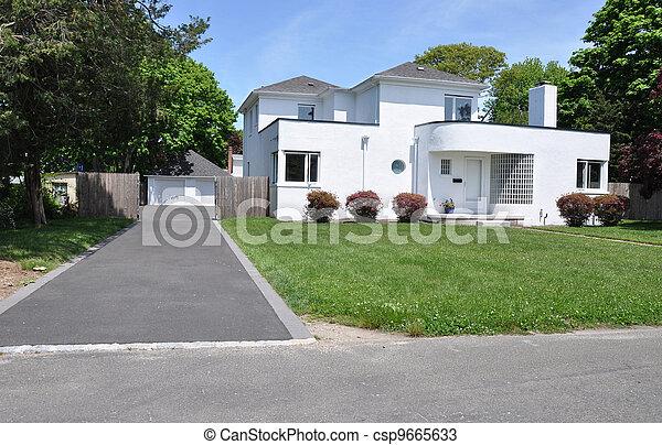 Suburban Home Driveway - csp9665633
