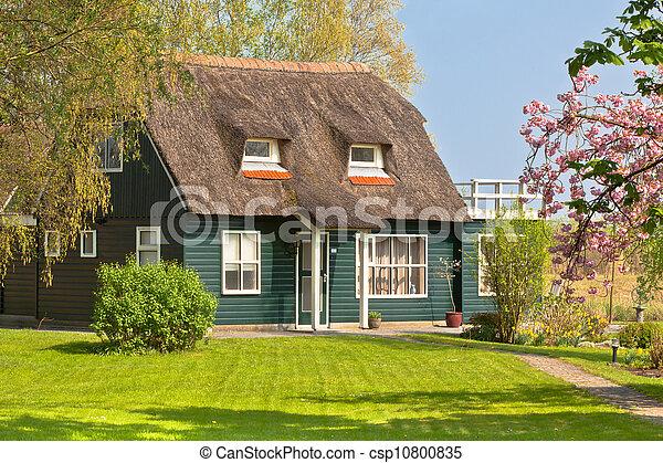 Suburban home front porch at spring - csp10800835