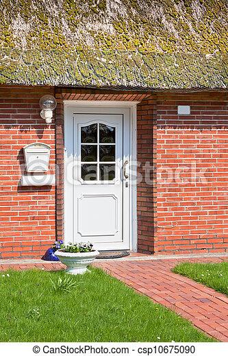 Suburban home front porch - csp10675090