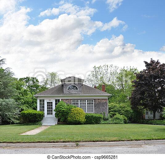 Suburban Home Front Yard Lawn - csp9665281