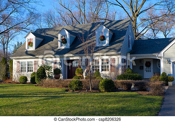 Suburban Home in Burr Ridge Illinois - csp8206326
