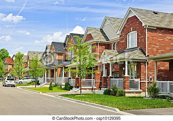 Suburban homes - csp10129395