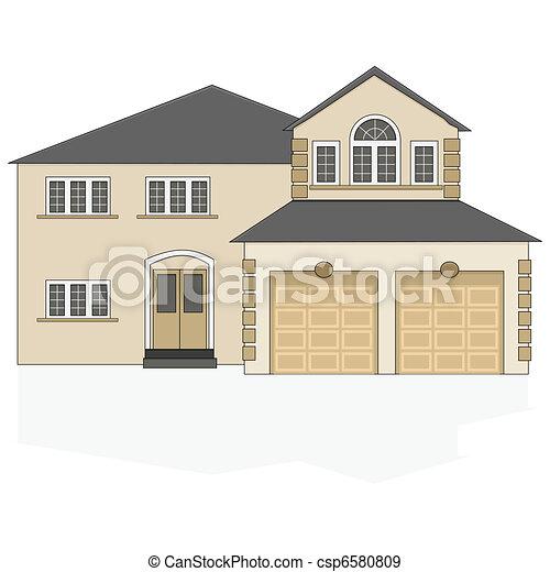 Suburban house - csp6580809