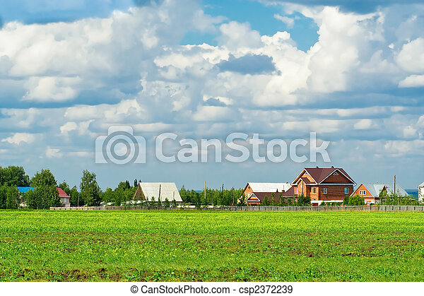 Suburban housing development  - csp2372239