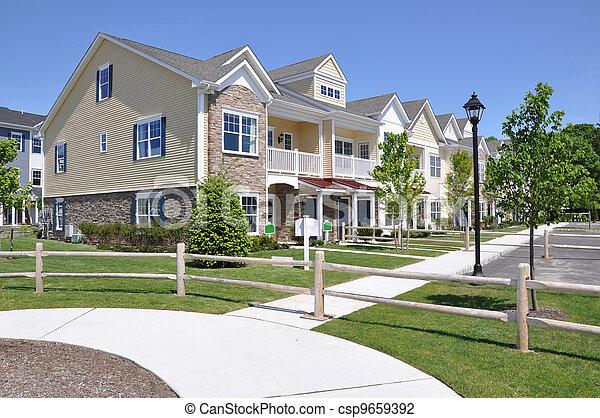 Suburban Neighborhood Residences - csp9659392