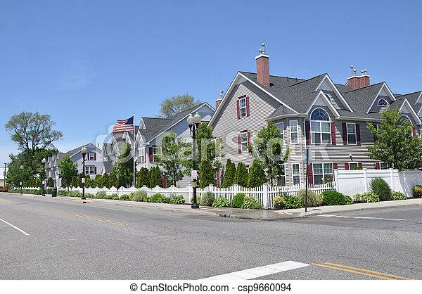 Suburban Neighborhood - csp9660094