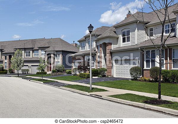 Suburban neighborhood townhouse complex - csp2465472