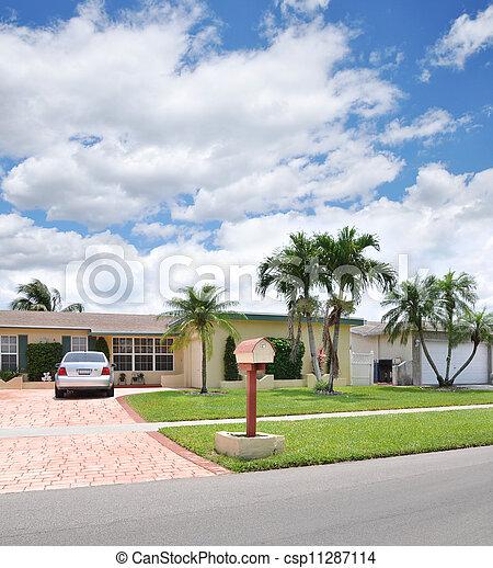 Suburban Ranch Style Home - csp11287114