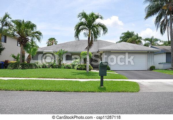 Suburban Ranch Style Home - csp11287118