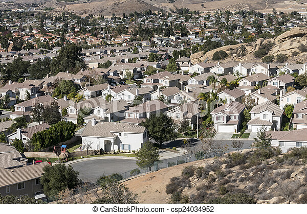 Suburban Southern California - csp24034952
