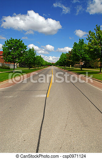 Suburban street - csp0971124