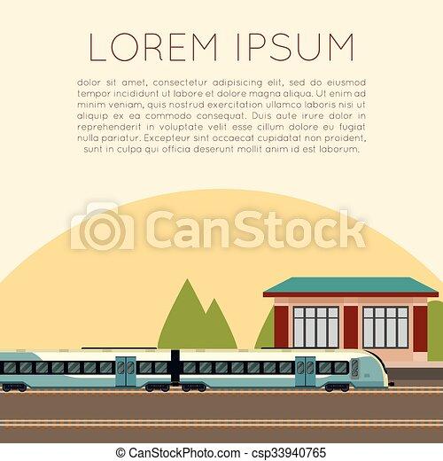 Suburban train station - csp33940765