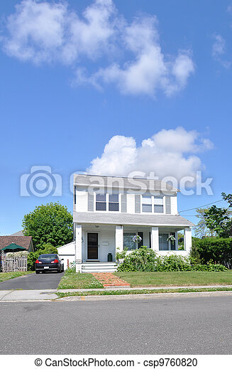 Suburban Two Story Home - csp9760820