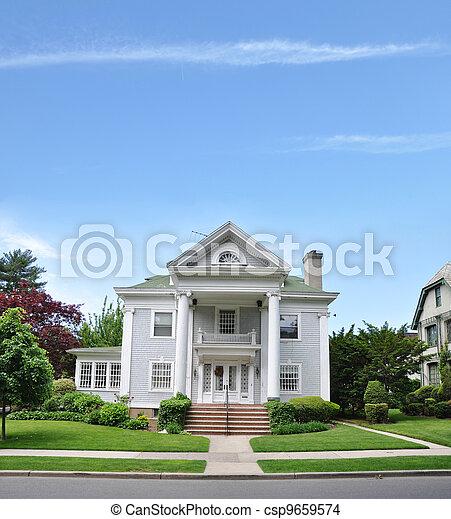 Suburban Victorian Home - csp9659574