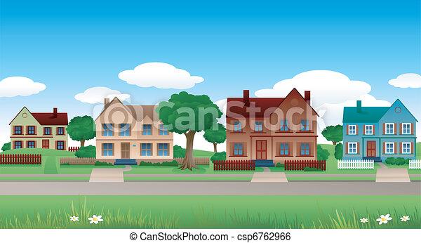 Paisaje suburban - csp6762966