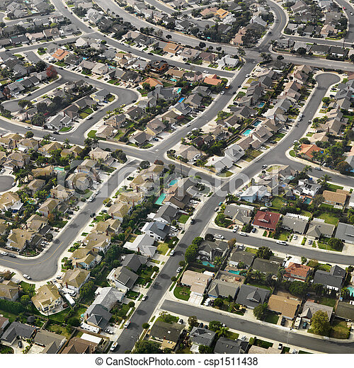 suburbia., 航空写真 - csp1511438