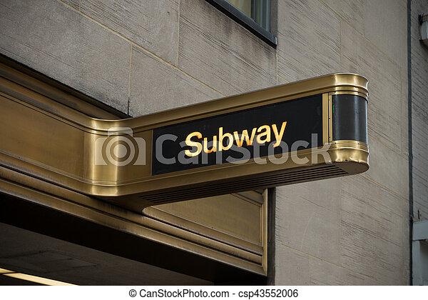 subway entrance sign - csp43552006