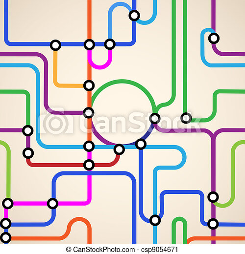 Subway Map Seamless Colorful Background Of A Subway Map Seamless