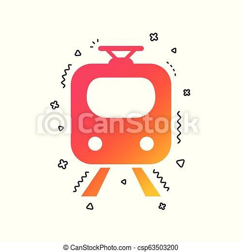Subway sign icon. Train, underground symbol. Vector - csp63503200