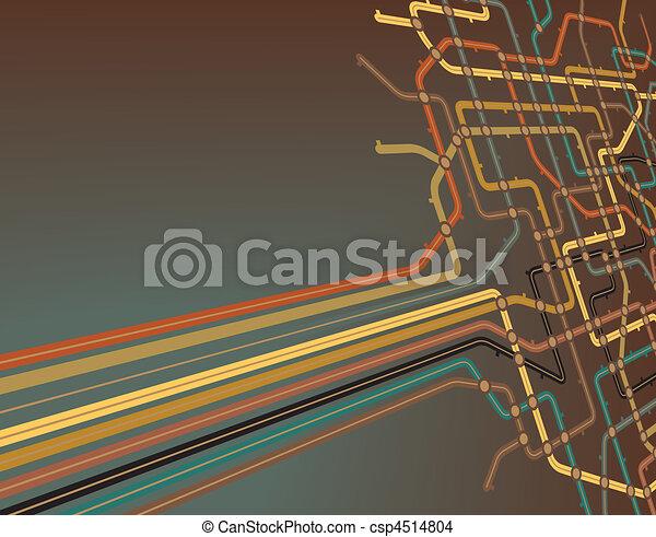Subway slant - csp4514804