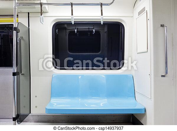 subway train empty seat - csp14937937