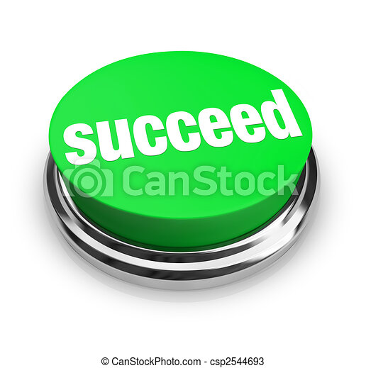 Succeed - Green Button - csp2544693
