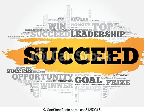 Succeed word cloud - csp51259318