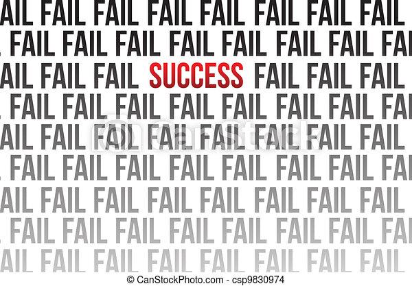 success around failure illustration - csp9830974