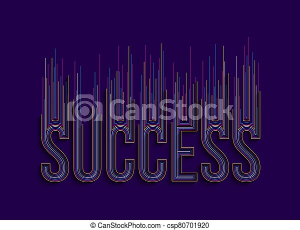 Success Calligraphic 3d Style Text shopping poster vector illustration Design. - csp80701920