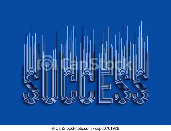 Success Calligraphic 3d Style Text shopping poster vector illustration Design. - csp80701928
