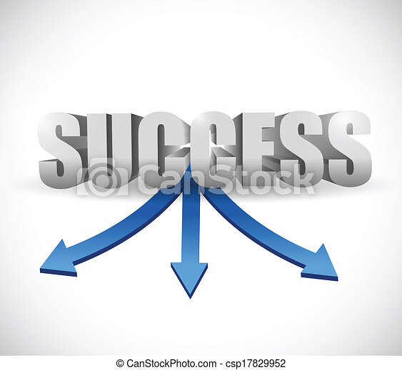 success destinations illustration design - csp17829952