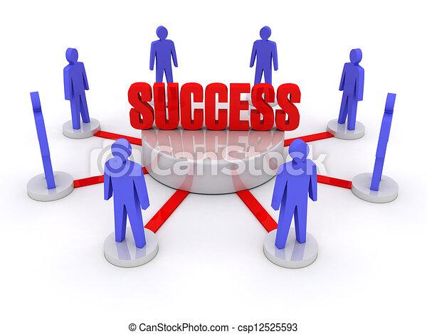 success., equipe - csp12525593
