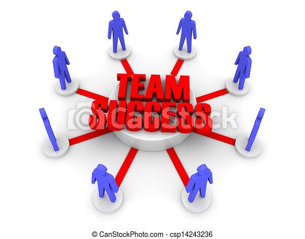 success., equipe - csp14243236