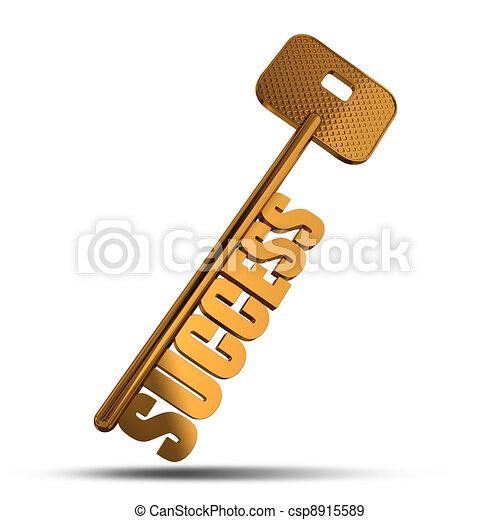 Success gold key - csp8915589