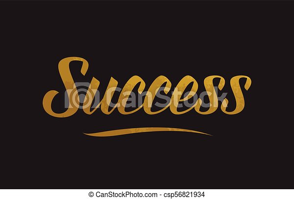 Success gold word text illustration typography - csp56821934