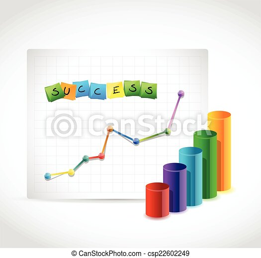 success graphs illustration design - csp22602249