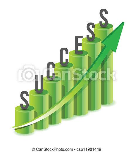 Success growth Chart - csp11981449