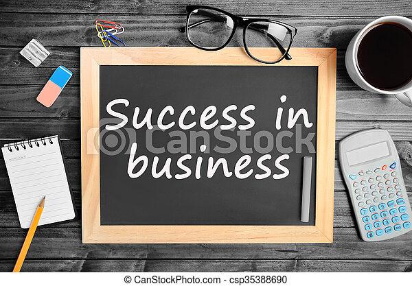 Success in business words - csp35388690