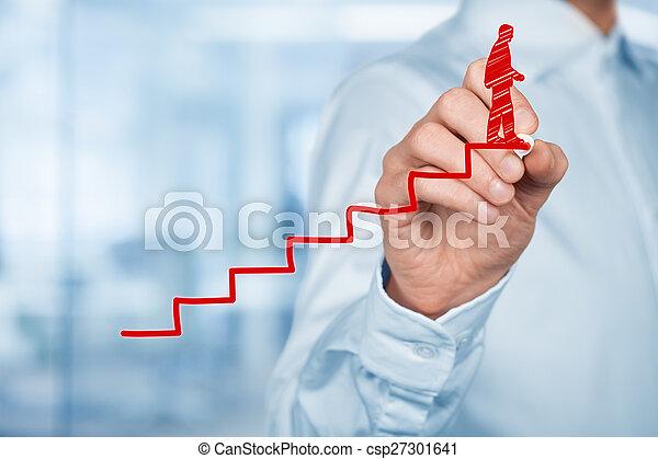Success in career - csp27301641