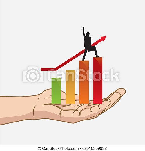 Success in hand - csp10309932