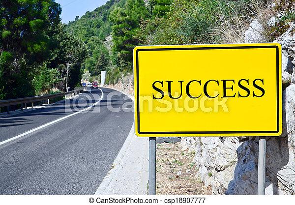 success in street sign on motorway - csp18907777