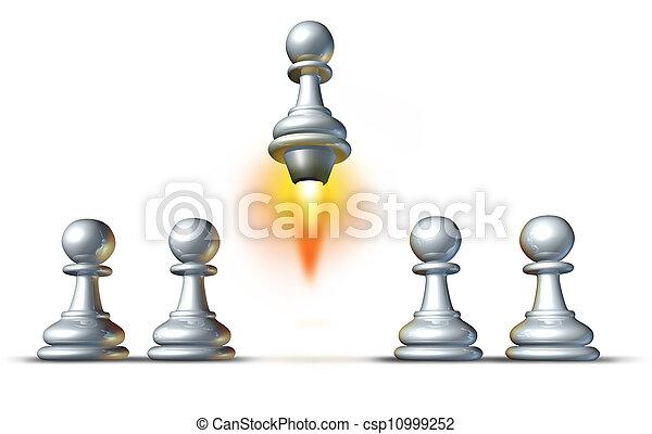 Individualidad y éxito - csp10999252