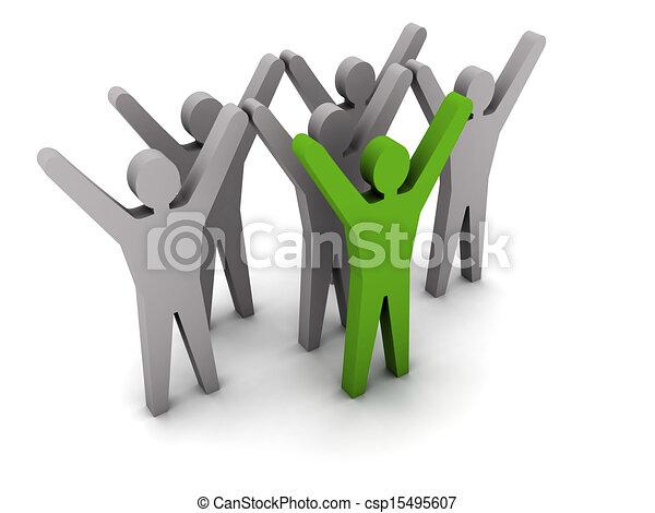 success., leadership., equipe - csp15495607