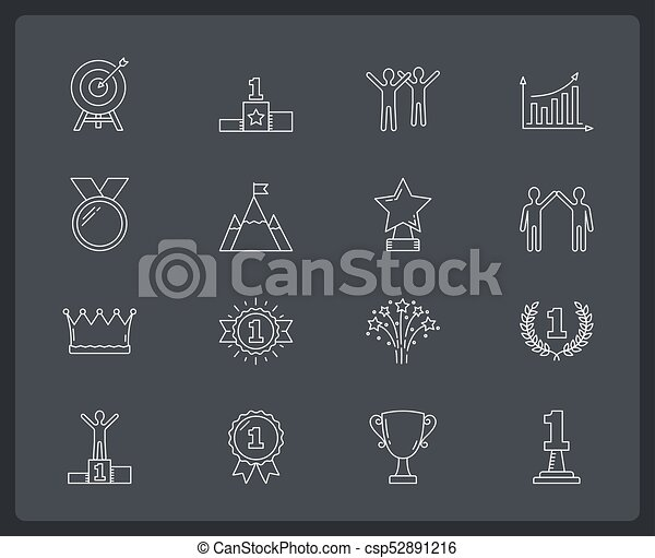 Success Line Icons - csp52891216