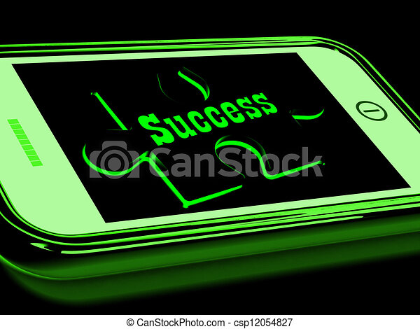 Success On Smartphone Shows Progression - csp12054827