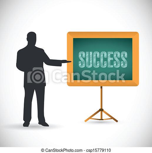 success presentation concept illustration - csp15779110
