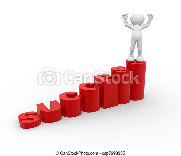 Success stair - csp7993335