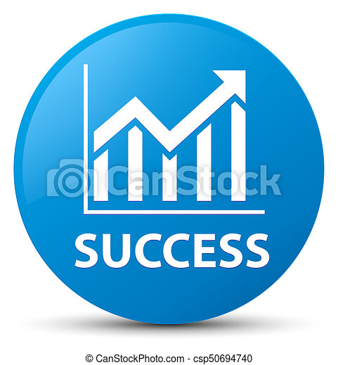 Success (statistics icon) cyan blue round button - csp50694740