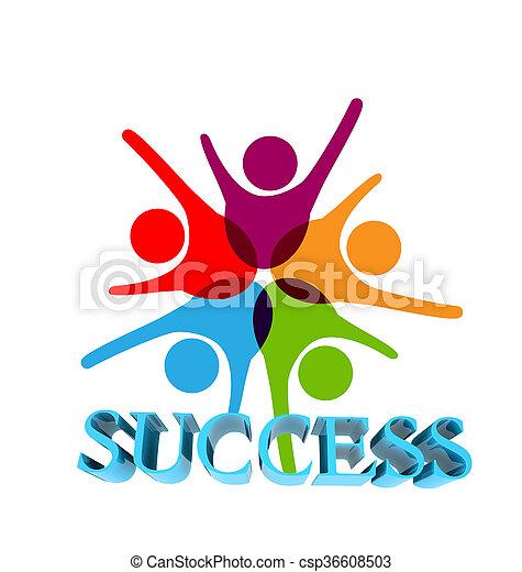 Success teamwork logo - csp36608503