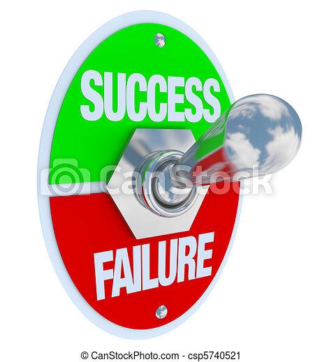 Success vs Failure - Toggle Switch - csp5740521